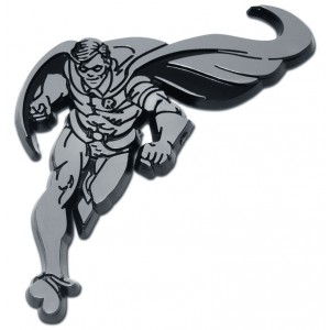 Robin Black and Chrome Batman Emblem