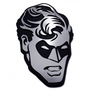 Robin Head Black and Chrome Batman Emblem