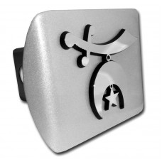 Shriner Symbol Chrome on Brushed Steel Hitch Cover