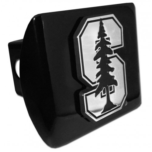 Stanford Logo Chrome on Black Hitch Cover