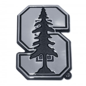 Stanford Logo Black and Chrome Emblem
