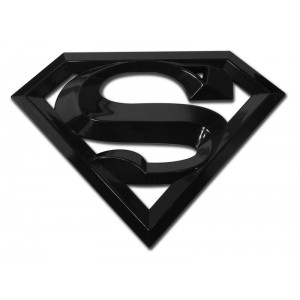 Superman 3d Black Superman Emblem