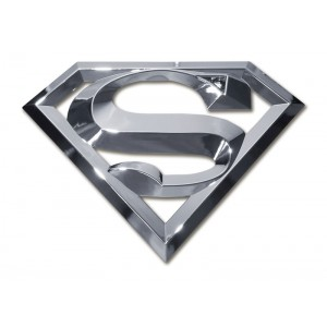 Superman 3d Chrome Superman Emblem