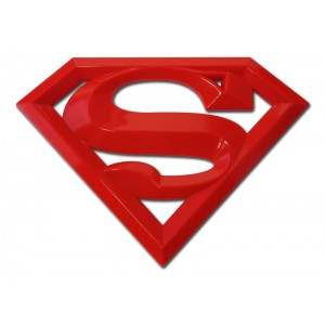 Superman 3d Red Superman Emblem
