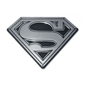 Superman Black and Chrome Superman Emblem