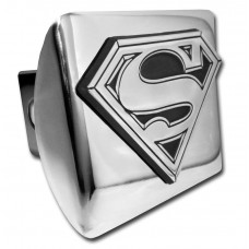 Superman 3D Logo Outlined Chrome on Chrome Hitch Cover