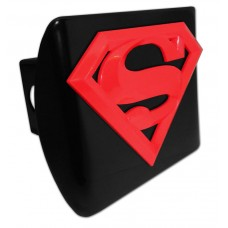 Superman 3D Logo Red on Black Hitch Cover