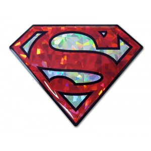 Superman Red and Silver Bling Superman Emblem
