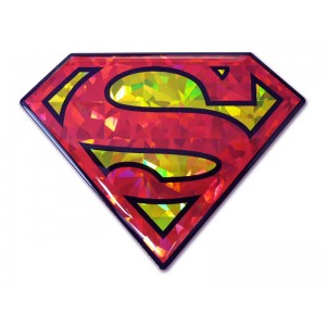Superman Red and Gold Bling Superman Emblem