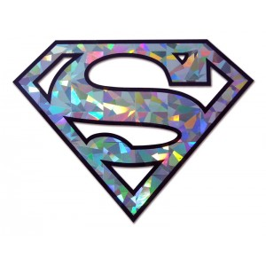 Superman Silver Bling Superman Emblem