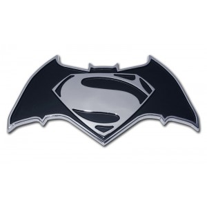 Batman/Superman Black and Chrome Batman Emblem