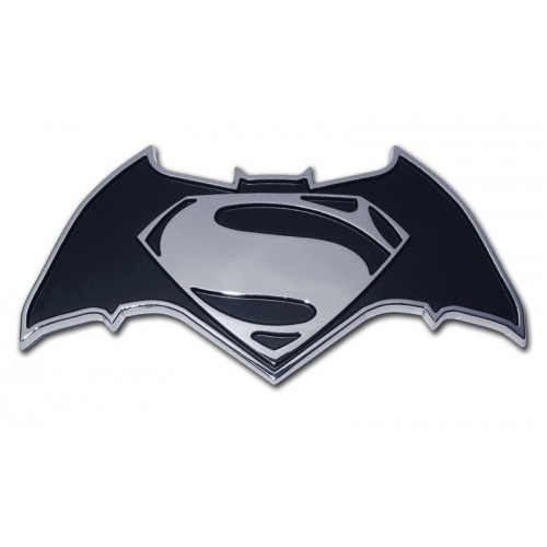 Batman/Superman Black and Chrome Superman Emblem