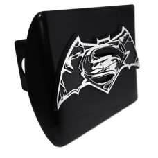 Batman/Superman Distorted Logo on Black Hitch Cover