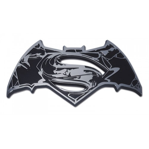 Batman/Superman Distorted Black and Chrome Superman Emblem