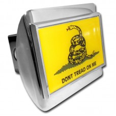 Don't Tread On Me Flag on Chrome Hitch Cover