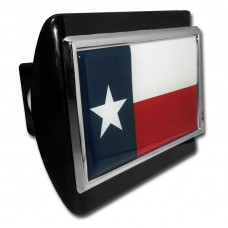 Texas Flag on Black Hitch Cover