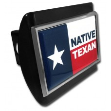 Texas Native Flag on Black Hitch Cover