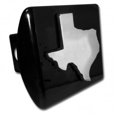 Texas State on Black Hitch Cover