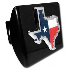 Texas State Color on Black Hitch Cover