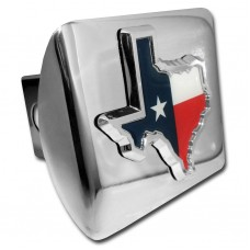 Texas State Color on Chrome Hitch Cover