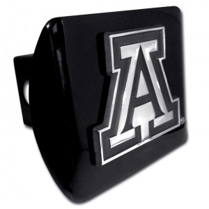 Arizona A Logo on Black Hitch Cover