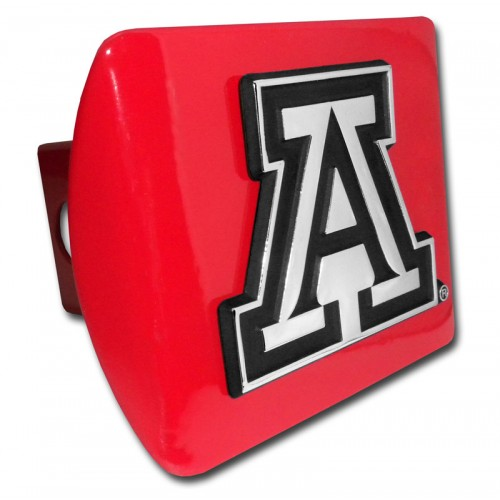 Arizona A Logo on Red Hitch Cover