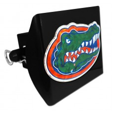 Plastic Florida Color Logo Bling on Black Hitch Cover