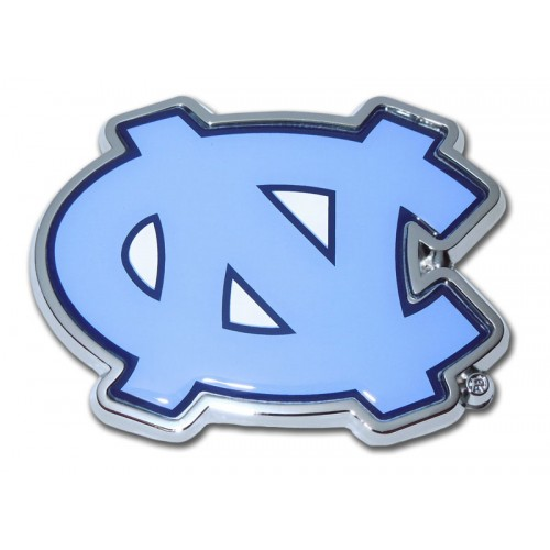 North Carolina Blue and Chrome Emblem