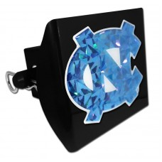 Plastic North Carolina Color Logo Bling on Black Hitch Cover