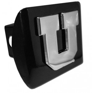 Utah Chrome on Black Hitch Cover