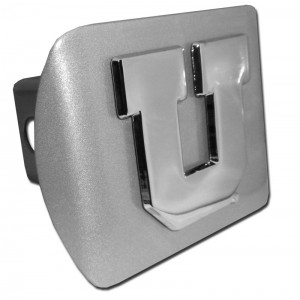 Utah Chrome on Brushed Steel Hitch Cover