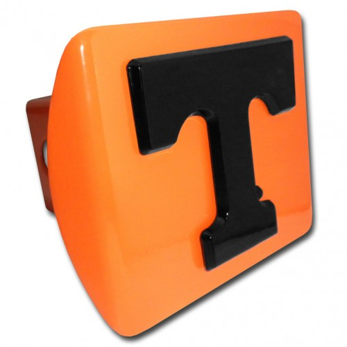 Tennessee Logo Black on Orange Hitch Cover