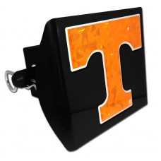 Plastic Tennessee Color Logo Bling on Black Hitch Cover