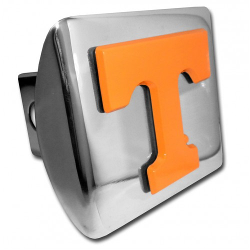 Tennessee Logo Orange on Chrome Hitch Cover