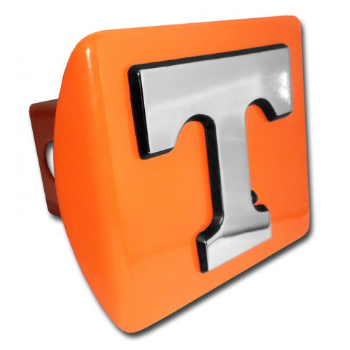 Tennessee Logo Chrome on Orange Hitch Cover