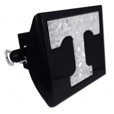 Plastic Tennessee Silver Logo Bling on Black Hitch Cover