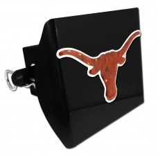 Plastic Texas Color Logo Bling on Black Hitch Cover