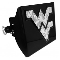 Plastic West Virginia Silver Logo Bling on Black Hitch Cover