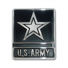 Army Star Chrome Emblem