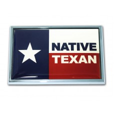 """Texas (State Flag with """"Native"""") Emblem"""