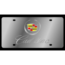 Cadillac Script Stainless Steel License Plate