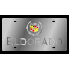 Cadillac Eldorado Stainless Steel License Plate