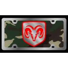 Dodge RAM Framed Stainless Steel License Plate