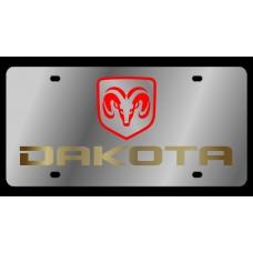 Dodge Dakota Stainless Steel License Plate