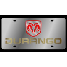 Dodge Durango Stainless Steel License Plate