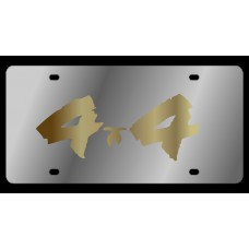 4x4 Brushed Stainless Steel License Plate