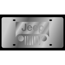 Jeep Grill New Stainless Steel License Plate