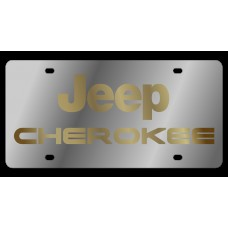 Jeep Cherokee Stainless Steel License Plate