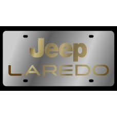 Jeep Laredo Stainless Steel License Plate
