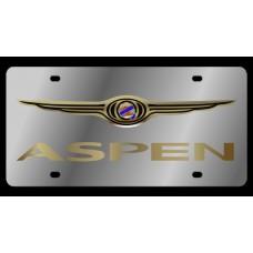 Chrysler Aspen Stainless Steel License Plate